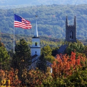 221 Flag Pole from Castle Hill Road 16x20 copyright