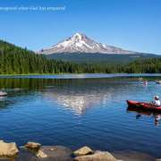 Mt Hood and Trillium Lake Kayaking