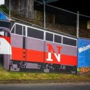 Train Mural in Newtown