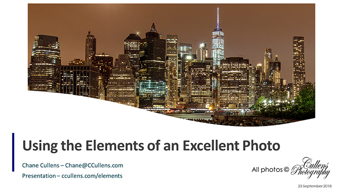 Using the Elements of an Excellent Photo