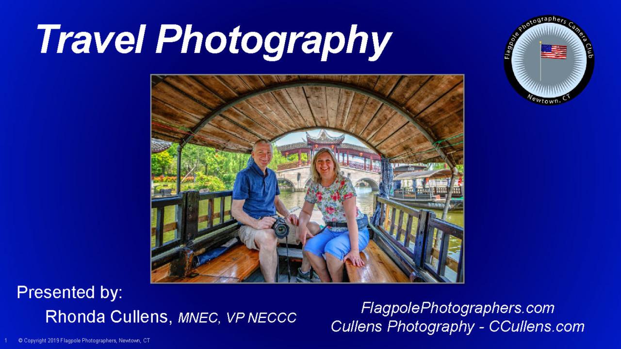 Rhonda presents Travel Photography at Walnut Hill